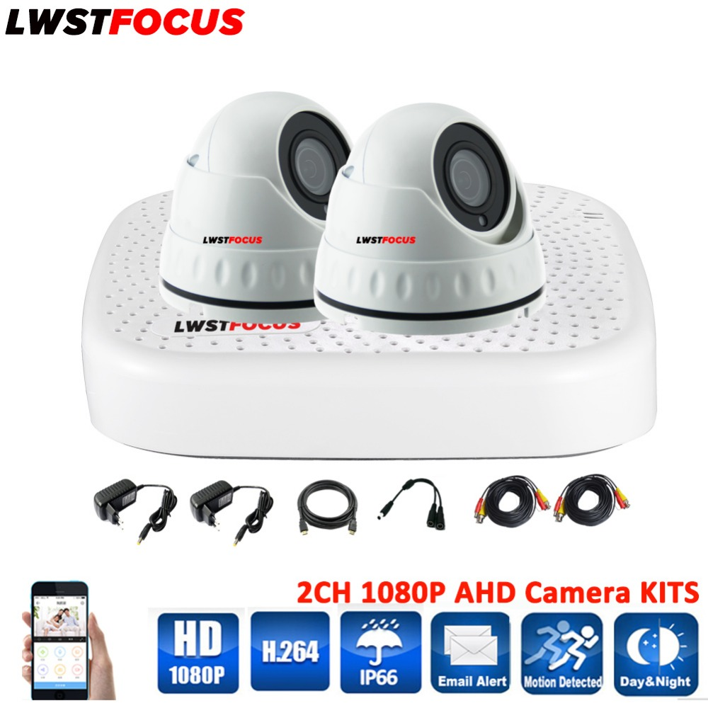 LWSTFOCUS 4CH CCTV System Kits 1080P HDMI AHD CCTV DVR 2PCS 2.0MP Metal Waterproof IR Dome Security Camera Surveillance System 4ch cctv system 1080p hdmi ahd 4ch cctv dvr 4pcs 1 3 mp ir outdoor security camera 960p waterproof camera surveillance system