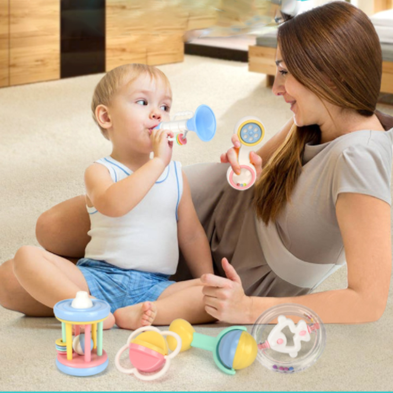 Bébé hochet jouets pour bébé mignon grenouille poussette jouet hochets Mobile pour bébé chariot 0-12 mois bébé lit suspendu cadeau enfants jouets