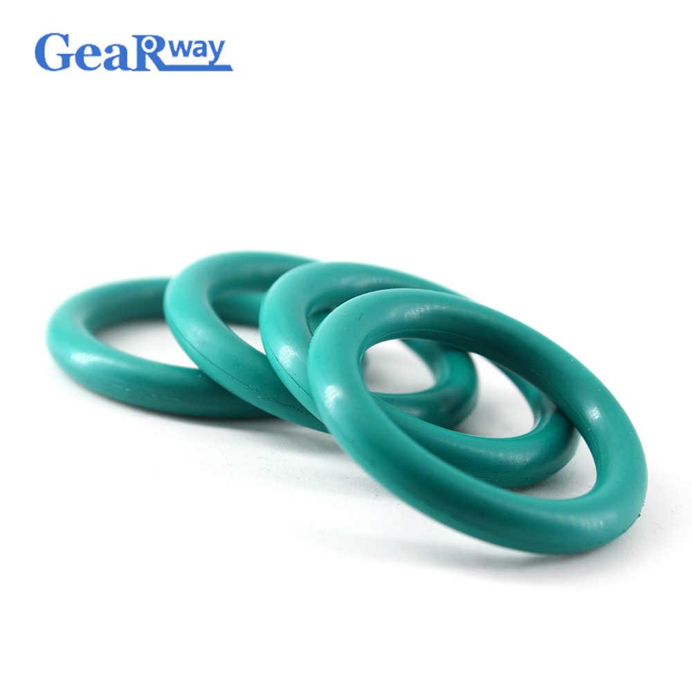 5 pcs O Ring Seal Gasket 4mm CS Màu Xanh Lá Cây FKM O Ring Niêm Phong 35/36/37/ 38/58/59/60mm OD Dầu Kháng O Ring Ring Con Dấu Máy Giặt