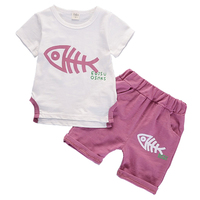 Children Clothing 2pcs Sets 1 2 3 4 Years Short Sleeved T Shirt Shorts 2Pcs Fashion