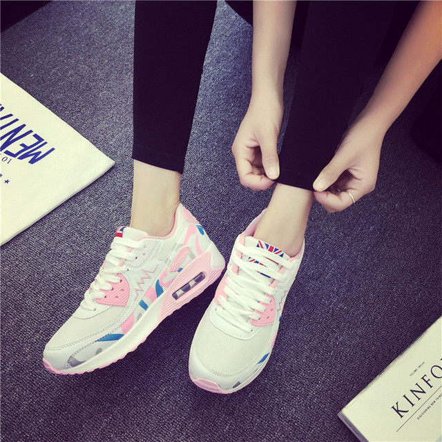 2017 new Designer Women flats Shoes Trainers Breathable Platform Shoes Outdoor Walking Women casual Zapatillas Mujer