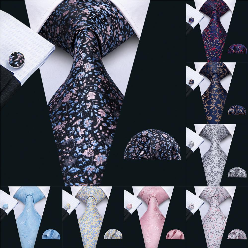 2018 New 8.5cm Necktie 100% Silk Mens Tie 10 Colors Floral Ties For Men Wedding Barry.Wang Business Style Dropshipping Tie LS-10
