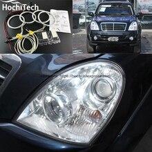 HochiTech отличный CCFL ангельские глазки комплект Ультра яркое освещение фар для Ssangyong Rexton 2006 до 2011