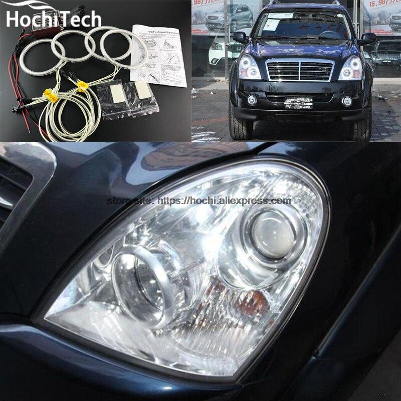 HochiTech Excellent CCFL Angel Eyes Kit Ultra Bright Headlight Illumination For Ssangyong Rexton 2006 To 2011