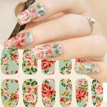 Fresh Flower Nail Arts Sticker 14 pcs/set Waterproof Nail Decal Art Sticker Gel Polish Manicure Foils Beauty Makeup