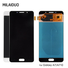 OEM AMOLED/TFT For Samsung Galaxy A7 2016 A710 A7100 A710F A710M LCD Display Touch Screen Digitizer Assembly Adjust Brightness 7 touch screen digitizer sensor glass lcd display monitor assembly for lenovo tab 2 tab2 a7 30hc a7 30 a7 30dc