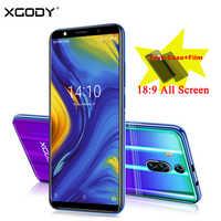 XGODY nowy 3G telefon komórkowy 6 Cal 18:9 na pełnym ekranie smartfon dual sim Android 8.1 1GB + 8GB 2800mAh 5.0MP kamera Telefone Celular