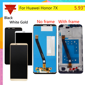 10Pcs/lot For HUAWEI Honor 7X LCD Display Touch Screen Digitizer with Frame for Honor 7X BND-L21 BND-L22 BND-L24 LCD Assembly фото