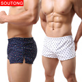 Men Underwear Boxer Broad Shorts Sexy Cotton Men Cueca Boxer Printed Men Shorts Home Underwear