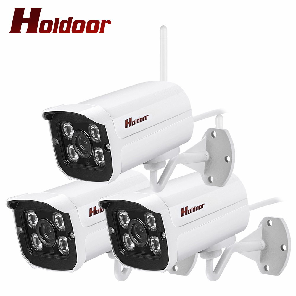 Outdoor Bullet 3 PCS IP Camera WIFI SD Card Slot 2MP 1080p HD Wireless Survelliance CCTV IP Cam IR Night Vision P2P Onvif iPhone wistino cctv camera metal housing outdoor use waterproof bullet casing for ip camera hot sale white color cover case