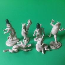 pvc figure model Bird and beast drama cup edge toy table decoration 6pcs/set