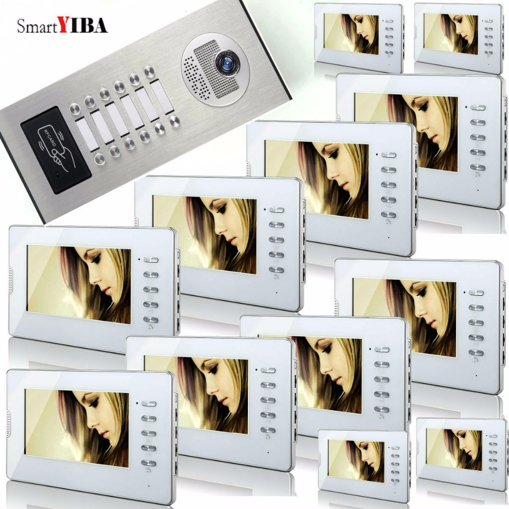 SmartYIBA RFID Access Home Video Intercom For 10 Unit Apartments 7