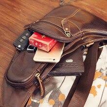 Genuine Leather Shoulder Bag for Men