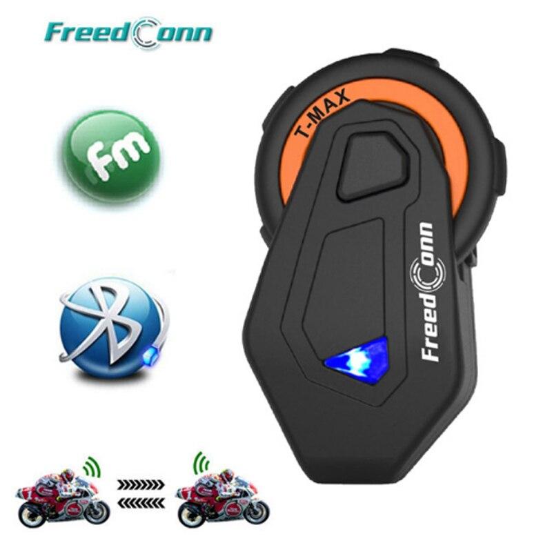 FreedConn T-Max new Motorcycle Group Talk System 1500M 6 Riders BT Interphone Helmet Intercom Headset FM Radio Bluetooth 4.1 гарнитура для шлема brand new v1 1 interphone bluetooth 3 0 intercomunicadores