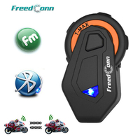Newst Freedconn T MAX Motorcycle Headset 8 Riders Communication 1000m Motorbike Helmet Group Intercom FM Radio Bluetooth 4.1