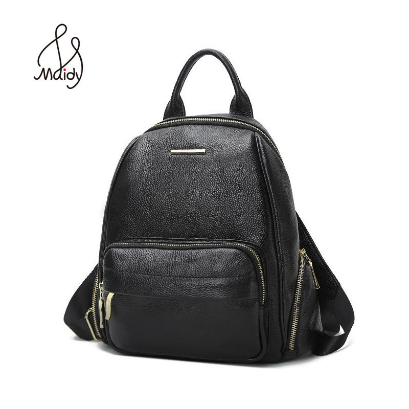 Genuine Leather Backpack Bags Fashion Women And Shoulder Large Bags Mochila School Bags For Teenagers Preppy Zipper Laptop Large fashion women leather backpack rucksack travel school bag shoulder bags satchel girls mochila feminina school bags for teenagers