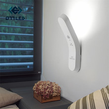 Simple Modern Led Wall Lamps Bedside Lamp Night Light USB Charging LED Motion Sensor Human Body Induction Emergency Flashlight multifunction led night light induction human body infrared sensor flashlight rechargeable usb work lamp for bedroom camping