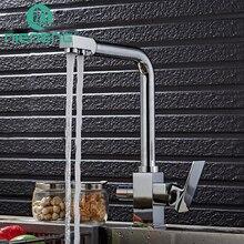 Nieneng 3 Way водопроводной воды кухни питьевой воды кран Chrome Кухня Смесители фильтр для воды вращающийся очистить смеситель ICD60366