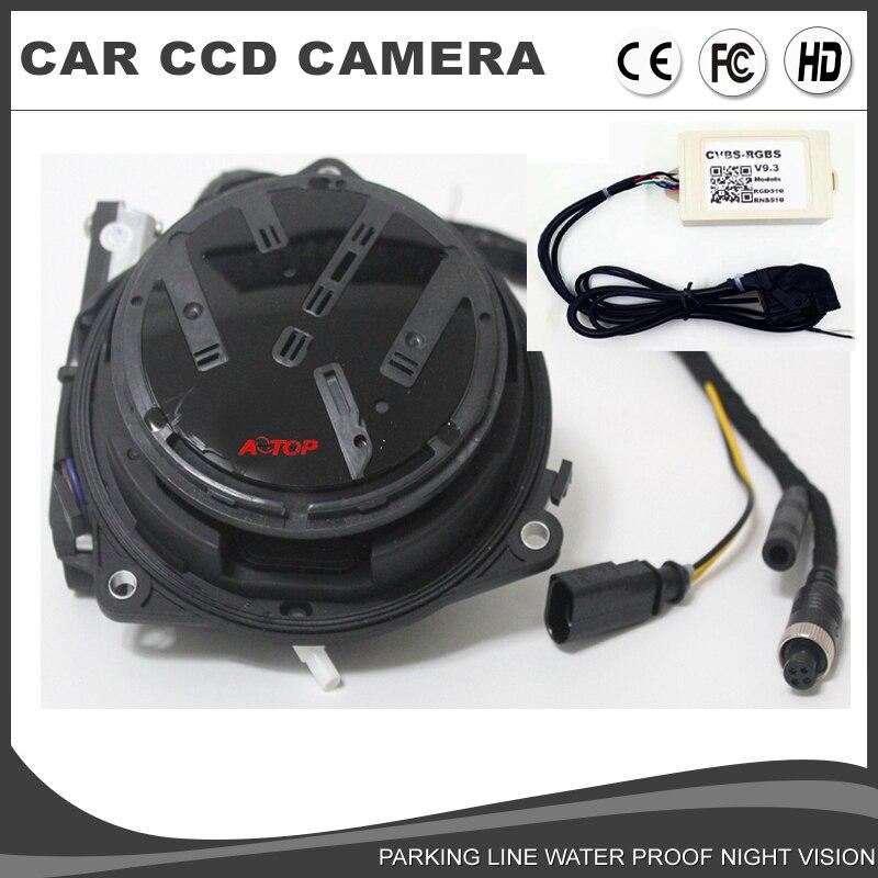 US $110 0 |VW Flip Car Camera For Volkswagen RCD510 RNS510 RNS315 VW Badge  Logo Smart Rotating rearview backup camera parking line RGB port-in Vehicle
