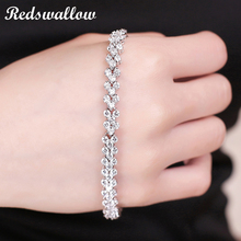 Bracelets for women Rome bracelet with small crystal stone bangle white gold color AA Cubic Zirconia