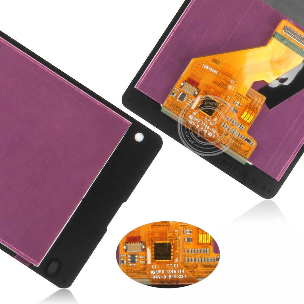 Srjtek testé 4.3 ''LCD pour SONY Xperia Z1 écran tactile à affichage Compact Digiziter pour SONY Xperia Z1 écran Compact D5503 M51w