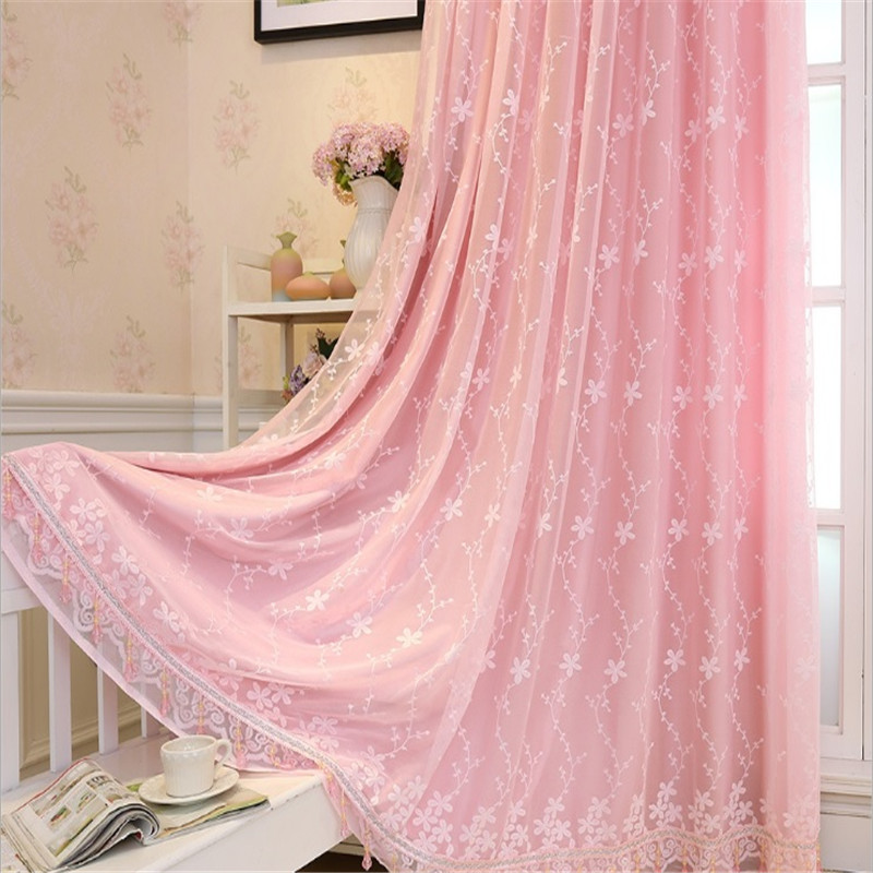 Best of Pink Sheer curtain voile tulle valance floral pattern luxury curtain drape for living room bedroom decoration modern Su130 15 in Curtains from Home Minimalist - Fresh valance patterns Lovely
