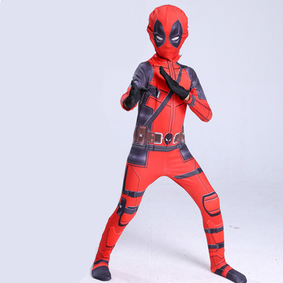 deadpool costume adult Man marvel cosplay deadpool Halloween costumes men kids Wade Wilson Spandex Lycra Nylon Zentai bodysuit