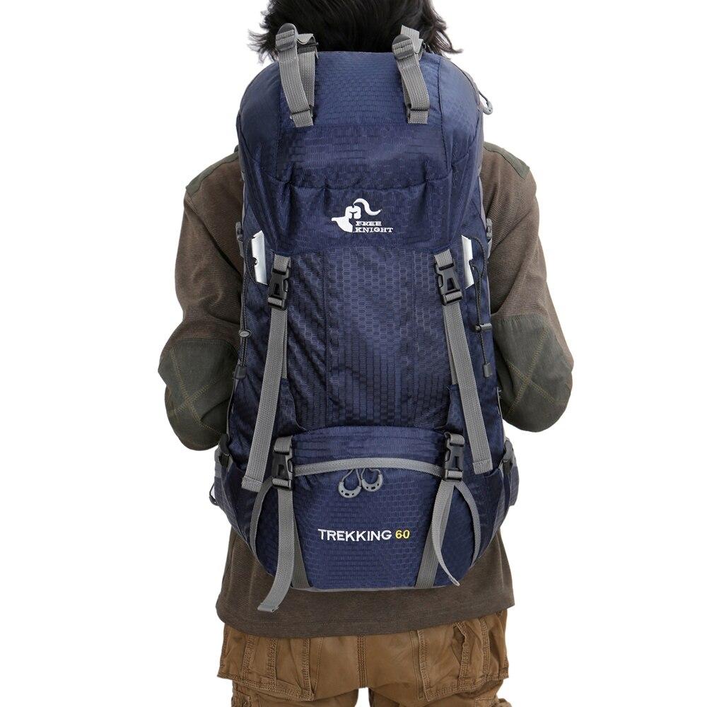 Chevalier gratuit respirant 60L sac à dos housse de pluie sac escalade montagne sac à dos pour voyage en plein air Camp équipement randonnée