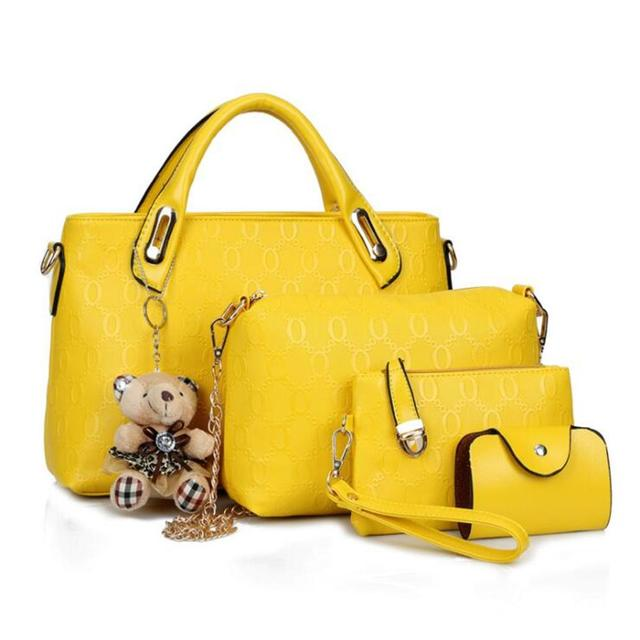 ETONTECK Women Bag Top-Handle Bags Female Famous Brand 2018 Women Girls Messenger Bags Handbag 4 Set PU Leather Composite Bag 5