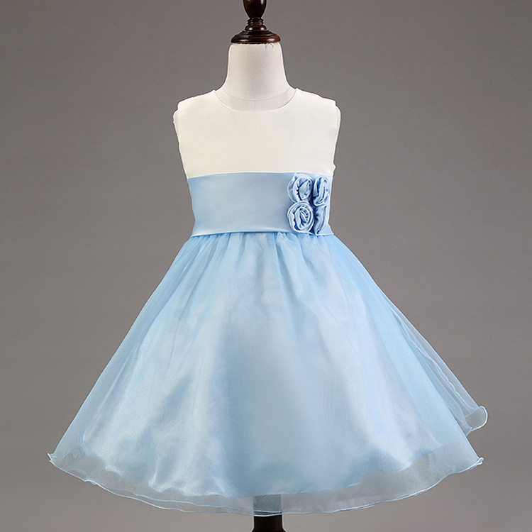 ed87dbcef Baby Girl Clothes!kids Evening Dress!girls Blue Dresses Girl s Pink ...