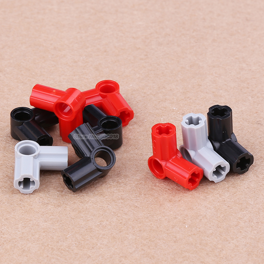 20pcs/lot Decool Technic Parts 90 Degrees 6# Connector Compatible With Legos 32014 MOC DIY Blocks Bricks Parts Set