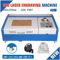 UK Shipping! New 40W 220V Engraving Cutting CO2 Laser USB Machine Engraver Cutter woodworking Free gift