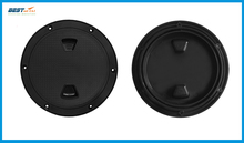 BEST MATEL 4 inch 6 inch 8 inch Black Screw Out Inspection Deck Plate Hatch Marine boat yacht Detachable Cover RV Plastic