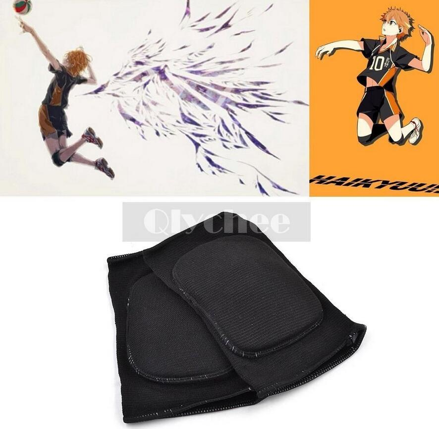 Rapture Anime Haikyuu Karasuno High School Volleyball Jersey Knee Pad Kneecap Protector Cosplay Costumes & Accessories