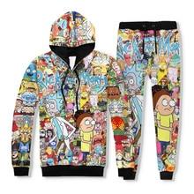 3D Print Sweatshirts Pullover Hoodies Colorful Tracksuit