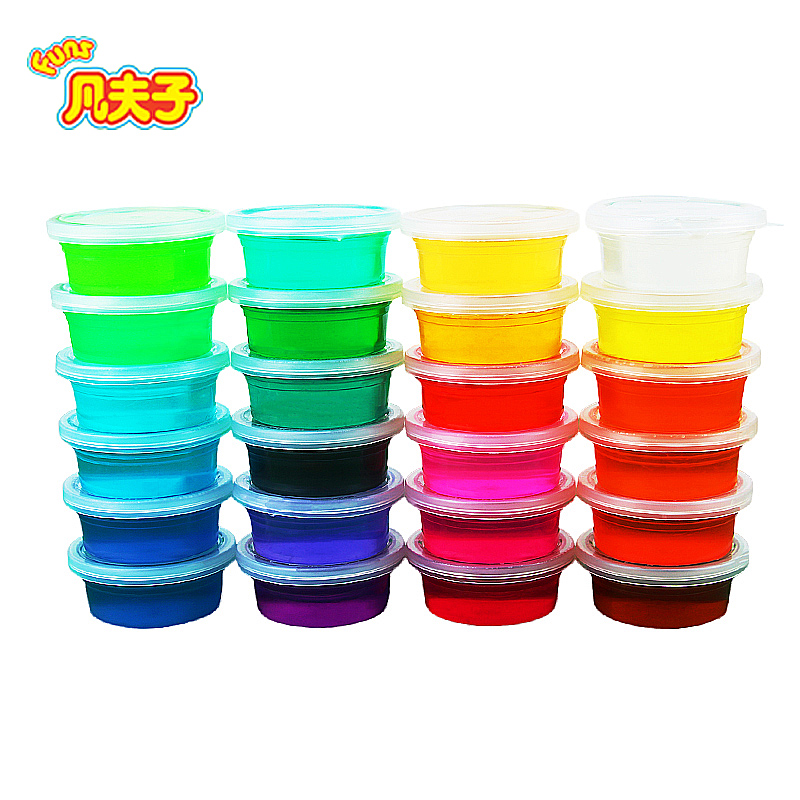 50g/box Colorful Crystal Mud PlayDoh Children Educational Handgum Intelligent Plasticine Magic Playdough Crystal Clay Toy