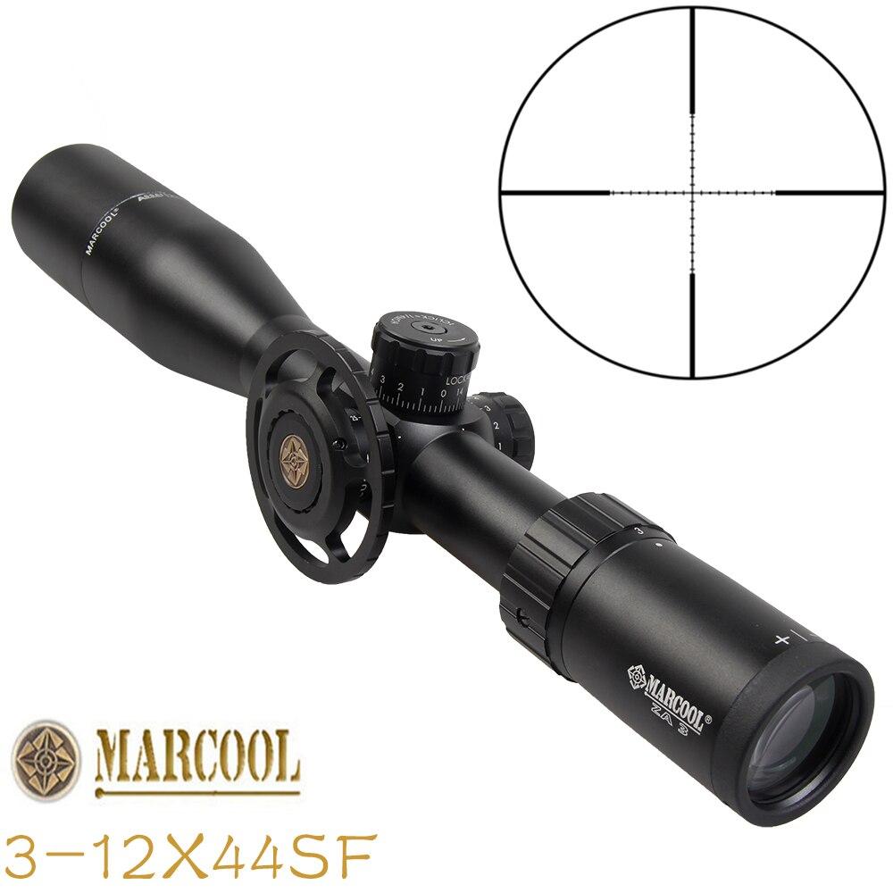 MARCOOL 3-12X44SF fusil de visée optique chasse voyage en plein air pistolet airsoft pistolet sniper accessoires de tir lunette de tir