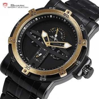 Sport Luxury Golden Bezel Military Watch 1