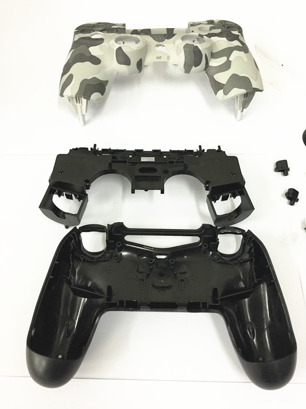 Купить с кэшбэком PS4 Camouflage Shell Housing Case With Full Set Small Keys Buttons Conductive Parts For Sony Playstation 4 Old PS4 Controller
