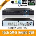 6 в 1 16ch * 5M-N/4M-N AHD DVR видеонаблюдения CCTV видео рекордер 1080N Гибридный DVR для аналогового AHD CVI TVI ip-камеры XMEYE