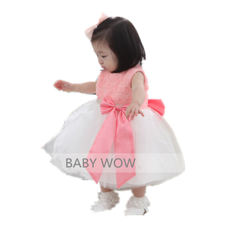 BBWOWLIN Pink Baby Girls Formal Dresses Vestido Infantil for 0-2 Years Birthday Pary Christmas for Kids Princess Dress 9055 цепочка