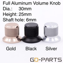 30*25mm Alluminio Solido Manopola Del Volume Potenziometro Cap per CD DAC Giradischi Recorder Altoparlante Amplificatore Radio 6 millimetri foro albero