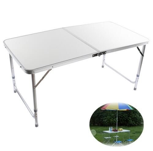 Silver Aluminum Folding Portable Camping Table Picnic Party Outdoor Bbq Dining Place Interior Accessories