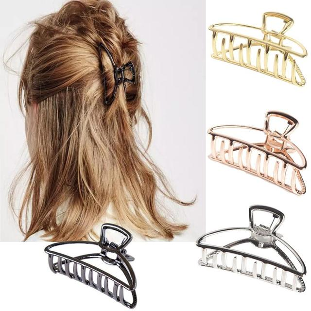 Ladies Large Hair Claw Clamps Small Hair Clip Butterfly Claws Clamps Accessories 8.16