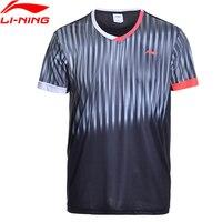 Li Ning Men Shirt AT DRY Badminton Shirts Breathable Light T Shirts Competition Top Comfort Li