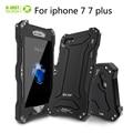 R-apenas a vida à prova d' água à prova de choque do caso da tampa de metal para apple iphone 7 7 plus capa shell proteção de vidro temperado