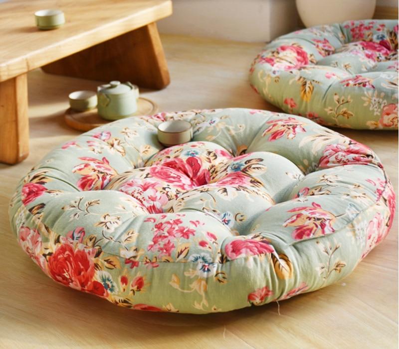 56 см круглый из хлопка и льна ковры для Гостиная мягкий коврик для дома Спальня Кофе таблица коврик компьютерное кресло ковер