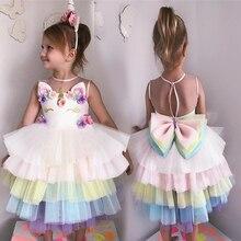 Unicorn Party Dress Kids Dresses For Gir