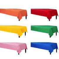 137*183 cm Kunststoff Tischdecken Tisch Abdeckung Party Decor Einfarbig Einweg Rot/Rosa/Orange/Blau /gelb/grün wasserdichte tuch