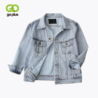 GOPLUS 2019 Spring Autumn Women Vintage Jacket Denim Plus Size Coats And Jackets Female Womans Streetwear Oversize Denim Jackets